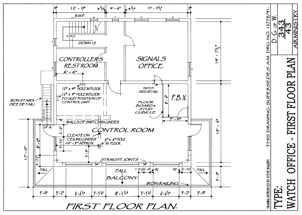 Floor Plan of Control Tower 1st Floor